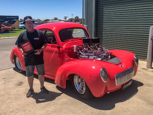 Show n Shine Top Closed Street Winner Mark Allen 41 Willys
