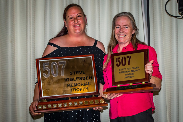 2019 Winner Kate Luyer (left) presented by Lisa Keys